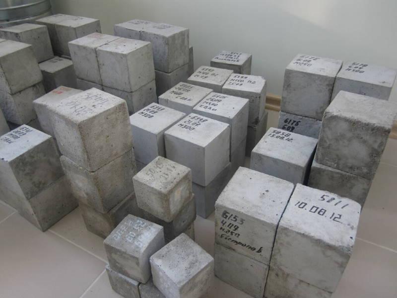 Отбор пробы бетона 15 м3 бетона